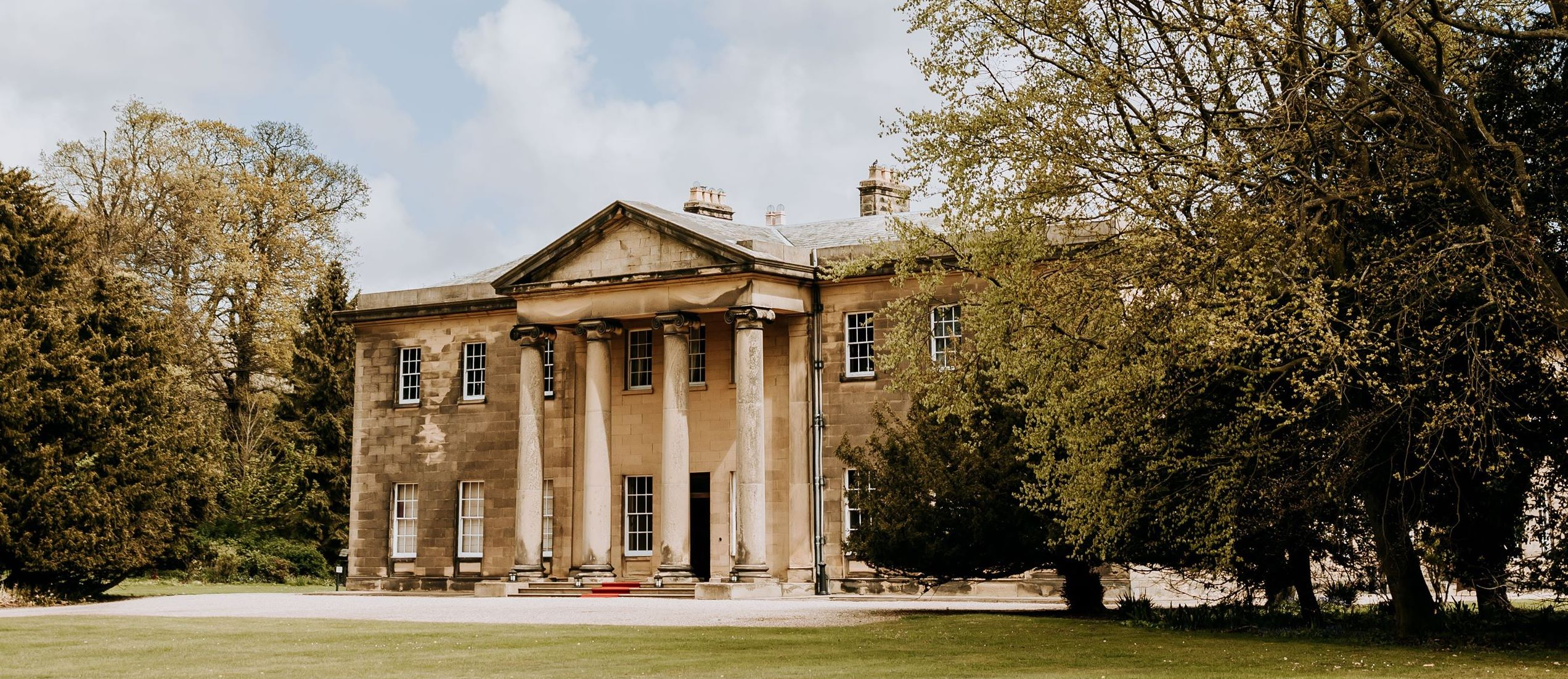 Rise Hall | Dine Venues | West Front | Peter Hugo Photography